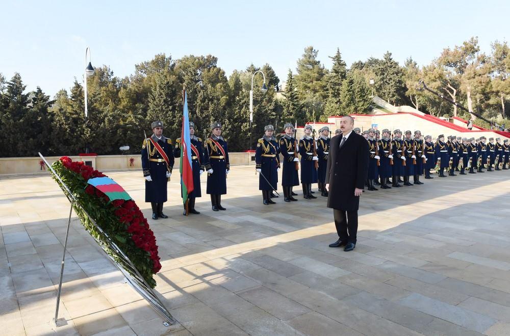 Президент Азербайджанської Республіки Ільхам Алієв вшанував пам'ять шехидів