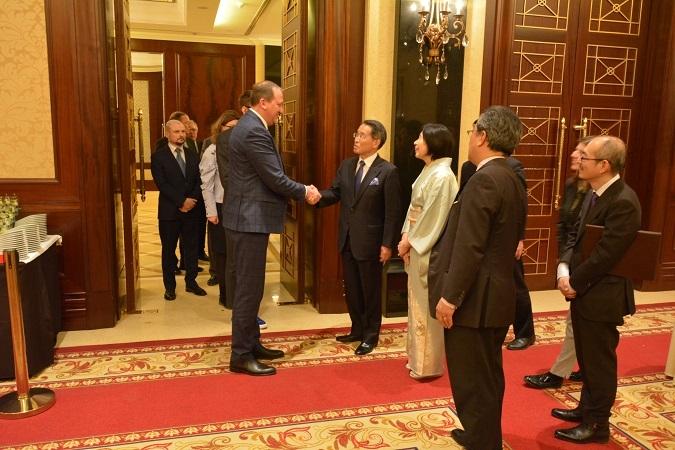 Новопризначений Посол Японії в Україні, Такаші Кураі влаштував прийом