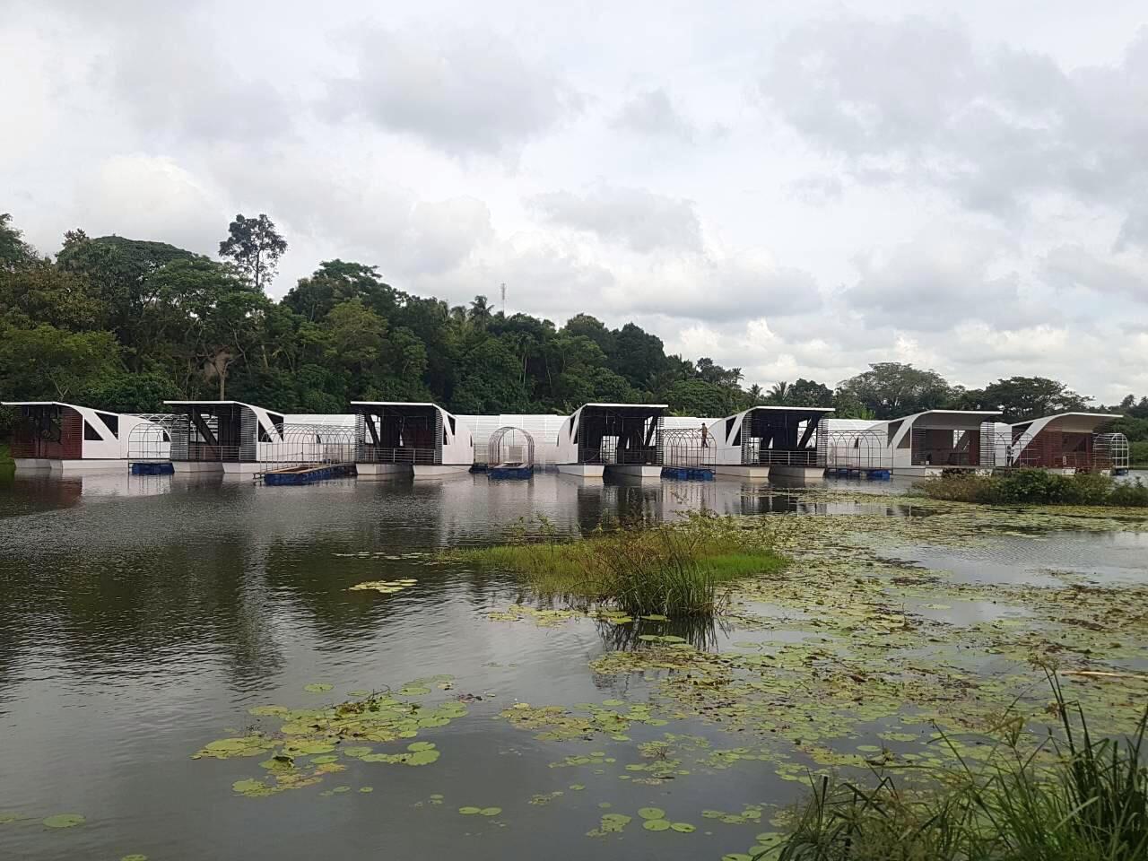 Процес будівництва кабін на агро курорті в Шрі-Ланці