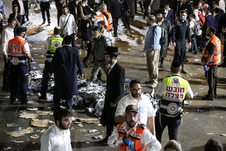 As a result of the stampede at the Israeli religious festival, 44 people died